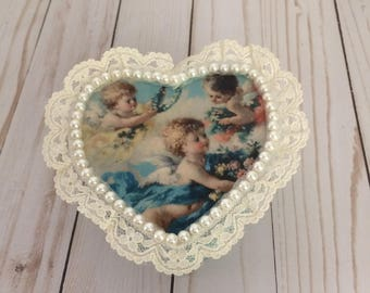 Paper Mache jewelry box - Heart
