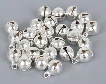 Silver Bells, Jingle Bells, Christmas Bells, Silver Bell Charm, Bells, Jewellery Bells, Festive Bells, Silver Jingle Bell, Craft Silver Bell