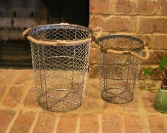 Large Vintage Metal Basket