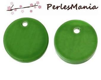 10 PENDANTS drops 12mm Green Pearl beads