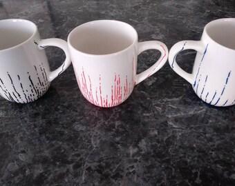 Hand Painted Mug Set