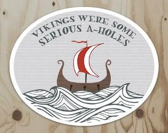 A-hole Vikings Vinyl Sticker
