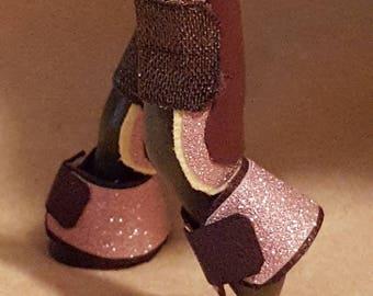 Pink sparkle jumper boot set