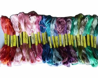 Set of 29 embroidery threads