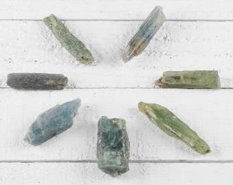 Gemmy Ocean Blue-Green KYANITE - 20 or 100g lot - Raw Kyanite Stone, Rough Kyanite Crystal, Blue Kyanite, Chakra Stone, Healing Stone E0785