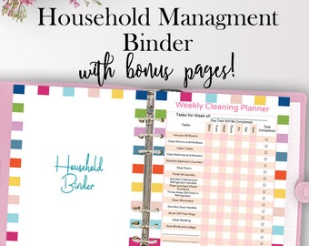 Home Management Binder, Home Planner Printable, Household Planner Printables, Household Binder Organization, Letter Size, Instant Download