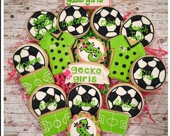 Soccer Sugar Cookies/ soccer team parties