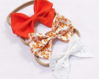 Oriential bow headband trio set