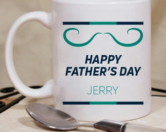 Happy Father's Day Personalized Mug With Name Printed On It