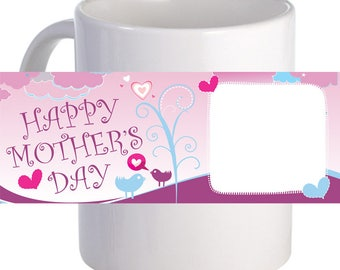 """Personalized """"Happy Mother's Day"""" Coffee Mug Beautiful Gift For Mother"""