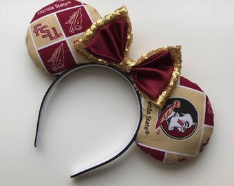 Florida State University Seminoles FSU Mickey Minnie Mouse Ears Noles