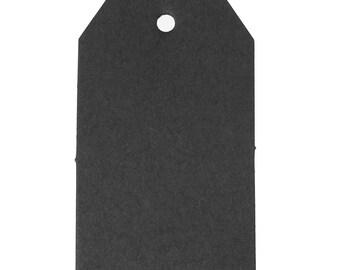 25 labels 7cm cardboard/paper gift black