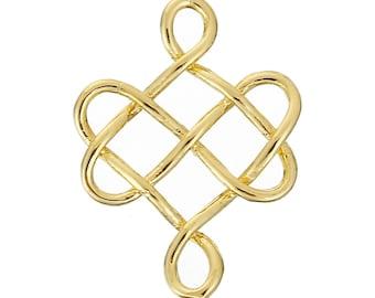 Connector-shaped Celtic knot color Gold 2.4 cm