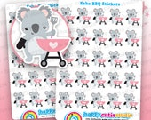 25 Cute Koko the Koala 'BBQ' Planner Stickers, Filofax, Erin Condren, Happy Planner, Kawaii, Cute Sticker, UK