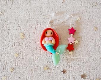 Little Mermaid handmade earrings