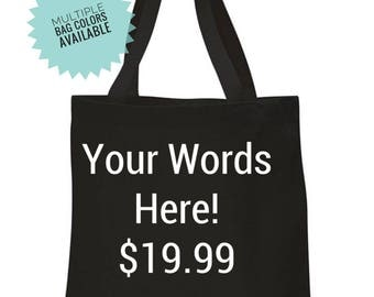 Custom Tote, Personalized Tote Bags, vacation Tote, Team Bags, Grocery Bag, Birthday Gift for Women, Custom Design Tote, Wedding Bag
