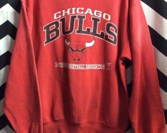 Pullover Sweatshirt Chicago Bulls Logo Graphic