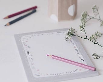 "Notepad ""fairy garden"" in DIN A5"