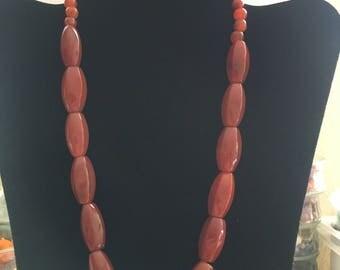 Designer grade carnelian and agate necklace