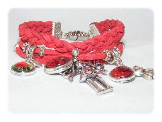 Cuff style bracelet * pink இளஞ்சிவப்பு * unique