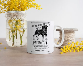 Rottweiler Dog Mug ~ Perfect Gift can be personalised