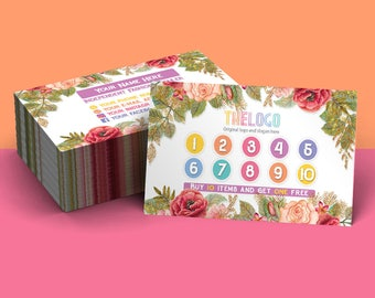 Punch Card, Reward Card, Free Personalize, Home Office Approved (color), Consultant Digital Card, Lula Punch Card, Free personalization
