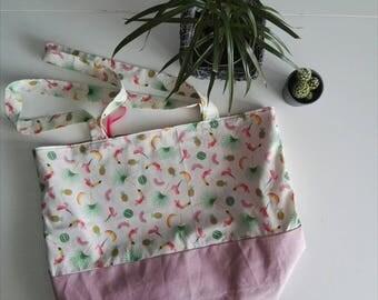 Pink Pina Colada big tote bag