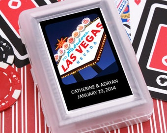 12pcs Las Vegas Sign Personalized Playing Cards - JMADRY88-FC6704