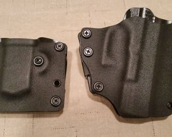 Combo Kydex OWB kit holster and Mag carrier Black