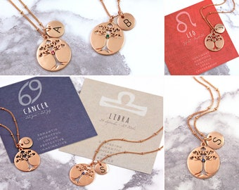 Tree-Of-Life | Tree-Of-Life Pendant | Family Tree Necklace | Tree-Of-Life Jewelry | Rose Gold Necklace | Personalised Jewelry | Tree Of Life