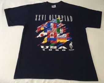 Atlanta Summer Olympics 1996 Vintage T-Shirt Navy Blue