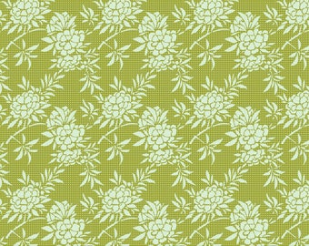 Tilda Fabric Harvest Flower Bush Green TD481620