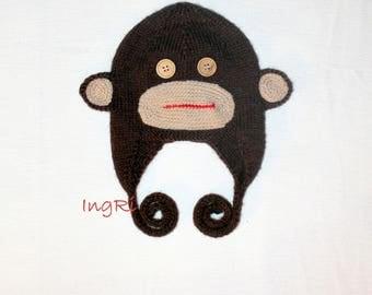 "handmade knitted cap ""Monkey"""