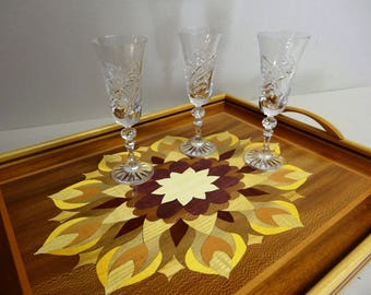 INLAY wood (cocktails, TV) 57 X 45 Rectangle tray