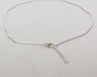Delicate And Simple Anklets, Rolo Chain Anklet, Minimal Anklet, Silver Links Anklet, Gift Anklet, Gypsy Jewelry, Everyday Jewellery, AS104