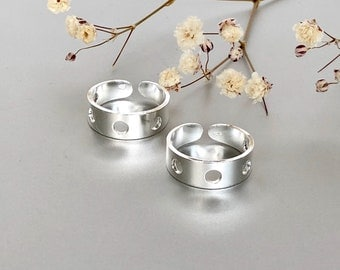 Silver Toe Ring With Holes,  Silver Toe Bands, Simple Toe Ring, Minimalist Toe Ring, Giftd Toe Ring TS118