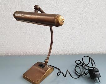 Vinatage / Antique Copper Desk / Piano lamp