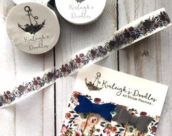 RTS Washi Tape // November Doodle Box Floral Ready to Ship TN Planner Decor