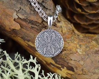 Nordic Perun Star. Witchcraft Handmade Alatir Amulet. Viking Wicca Symbol. Scandinavian Talisman. Ancient Nordic Witch Pagan Necklace