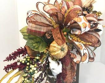 Fall lantern swag, fall swag, fall pumpkin swag, floral arrangements, lantern swag, home decor, home decorations, fall floral, handmade swag
