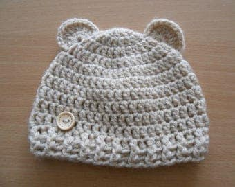 beige baby Hat