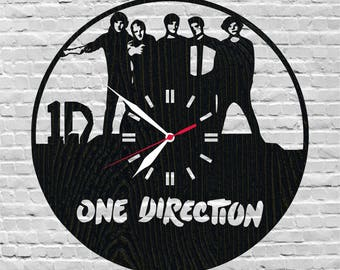 One direction clock/Boy band/Music fan/Music lover gift/Pop boy band/Music lover idea/Music fan gift/One direction lover/Music fan room