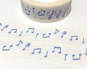 music note washi tape 7M love song blue music music theme piano music I love music sticker tape music day music fun decor planner sticker
