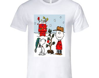 The Peanut Gang - Charlie Brown Christmas Men's Fitted T Shirt