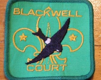 Vintage Blackwell Court Bird Sew On Patch !