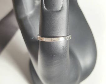 Hammered silver ring