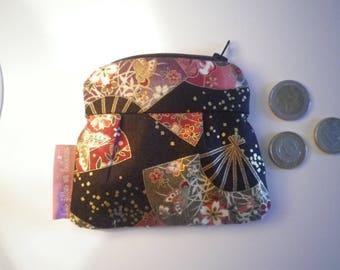 Wallet fabric Japanese golden highlights - gift idea