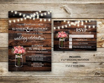 Shop for rustic wedding invitation on Etsy