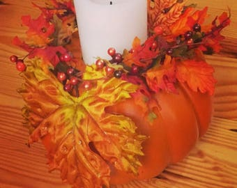 Small Pumkin Candle Holders