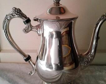 Vintage Silver plated Vintage Coffee Pot